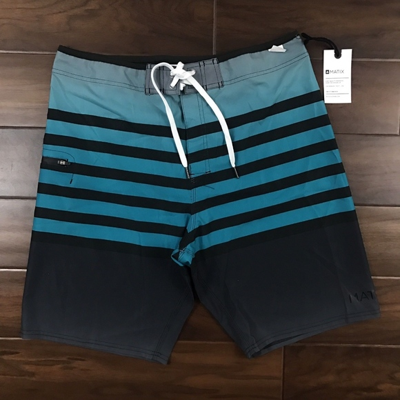 5914fa92e8 Matix Swim | Size 34 Striped Boardshort Trunks | Poshmark
